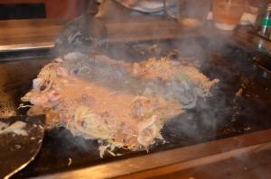 Monjiyaki method